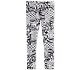 Epic Threads Mix and Match Geo-Print Legging, Black/White