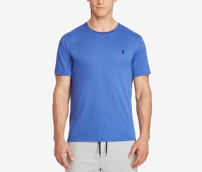 Ralph Lauren Men's Big & Tall Performance T-Shirt, Blue