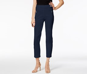 Inc International Concepts Curvy-Fit Cropped Pants, Navy
