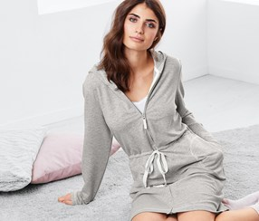 Women's Dressing Gown, Grey
