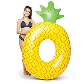 Pineapple Swimming Ring, Yellow/Green