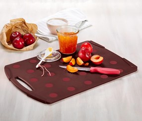 Chopping Board, Claret/Red