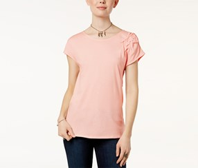 Joe's Jeans Lia Ruched T-Shirt, Pink