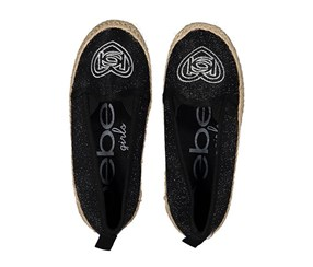 Bebe Girl's Embroidered Flat, Black