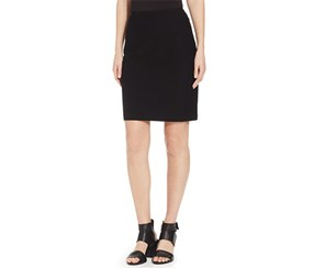 Eileen Fisher Women's Petite Solid Pencil Skirt, Black