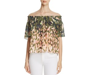 Catherine Malandrino Women's Off-The-Shoulder Top, Olive