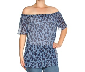 Michael Kors Off-The-Shoulder Top, Blueberry