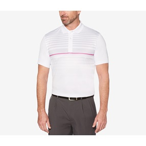 176bd5d0 PGA TOUR Mens Ombre Engineered Tops, Stripe Bright White