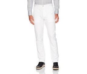 Kenneth Cole Reaction Men's Linen Pants, White