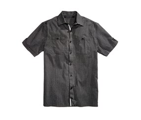 Sean John Men's Big & Tall Cotton Dress Shirt, Black