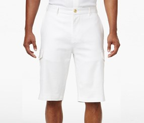 Sean John Men's Lightweight Cargo Shorts, White