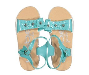 Bebe Adjustable Strappy Sandals, Turquoise