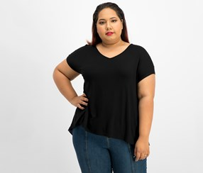 ING Trendy Plus Size Printed-Back Tops, Back Combo