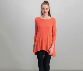 Jersey High-Low Tunic, Tropical Reef
