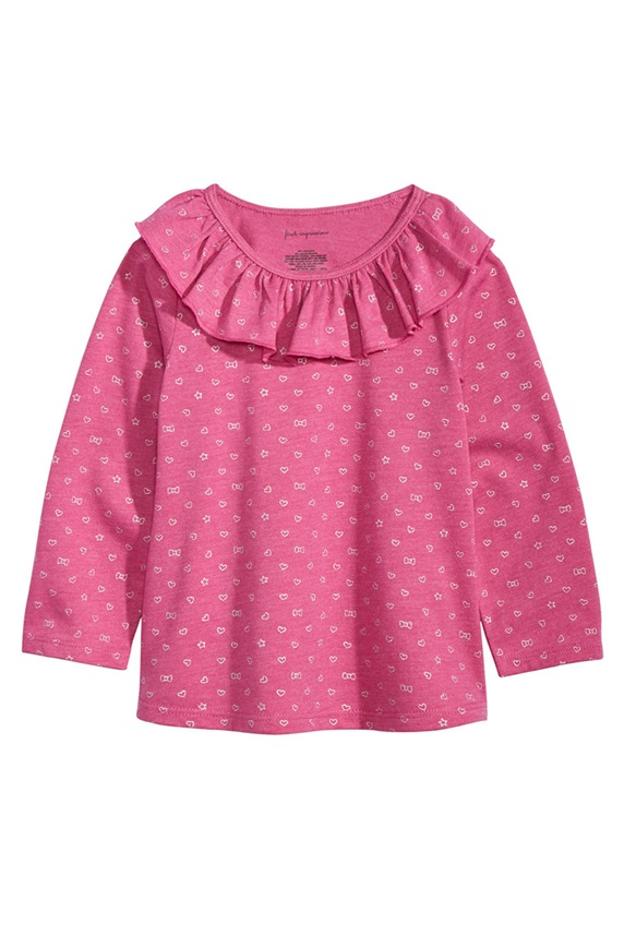 e39bbfb01 First Impressions Toddler Girls Printed Ruffle, Berry Rose