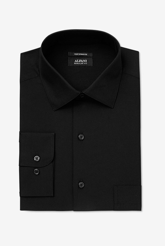 b87119906 Alfani Men s Classic Regular Fit Performance Stretch Solid Dress Shirt