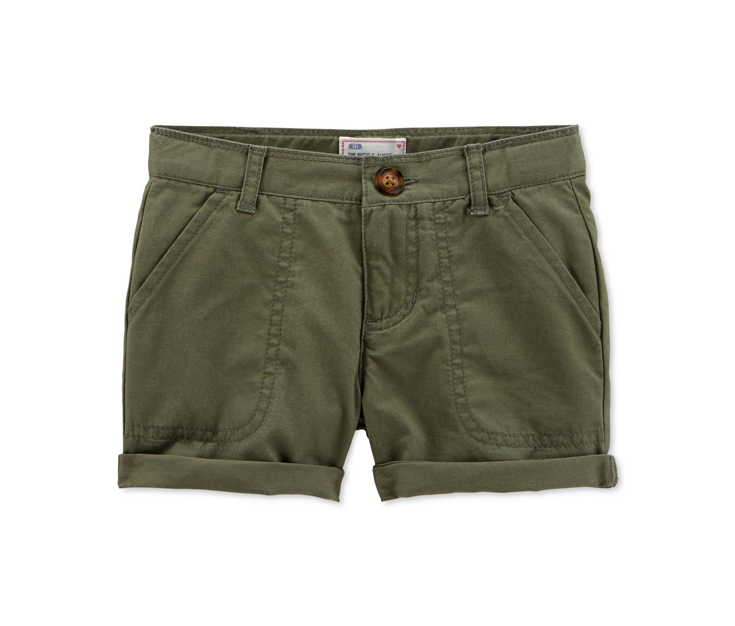 3abecf6922 Shop Carters Carter's Girl's Chino Shorts Girls, Olive for Toddlers ...