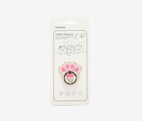 Cute Claw Rhinestone Ring Cell Phone Stand, Pink/White