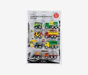 Construction Vehicles Toys Set, Green/Yellow/Red/Orange