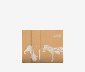 Animal World Notebook, Brown