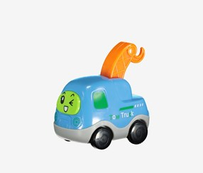 Pull Back Vehicle-Tow Truck, Blue Combo