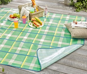 Picnic Blanket, Yellow/green/blue/white
