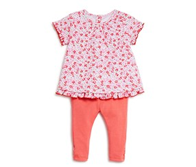 Kate Spade Girl's New York Floral Print Top & Leggings Set, Pink