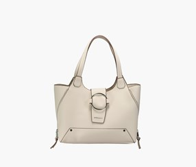 Women Elle Tote Handbags, Bone