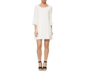 Sanctuary Women's Crochet Trim Shift Dress, White