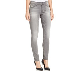 DKNY Skinny Mid-Rise Jeans, Grey Wash