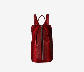 Rampage Wild Snake North South Backpack, Red