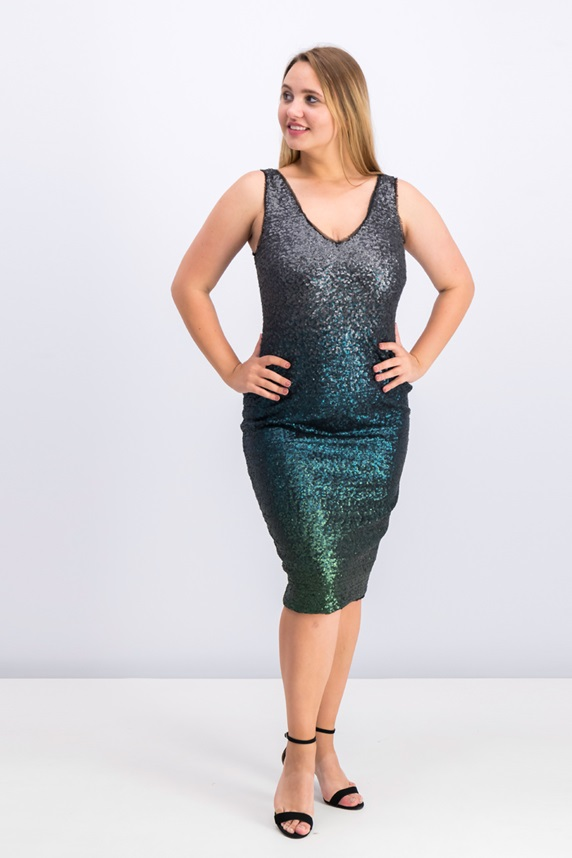33349e6fb4 Rachel Roy Sequined Sheath Dress, Emerald