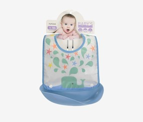 Water-Proof Waterdrop Bib, Blue