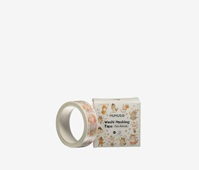 Cute Animals Washi Masking Tape, White