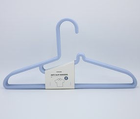 Anti-Slip Hangers 4 Pcs, Blue