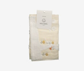 Kids Gauze Towel-Rabbit, Light Yellow