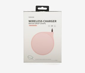 Wireless Charger-10W Water Drop Shape, Pink