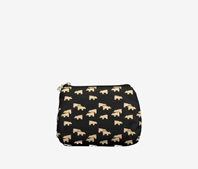 Printed Cosmetic Bag, Black