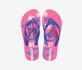 Women's Flip Flops, Rose Red