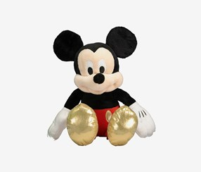 Mickey Mouse Plush Toys, Black/Red Combo