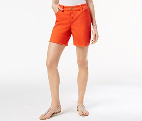 Inc Women's Colored Cutoff Shorts, Orange