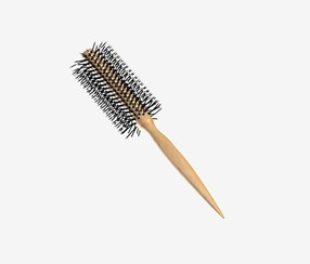 Plain Round Hair Brush, Tan