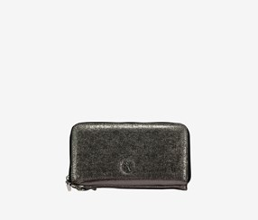 Christian Lacroix Stephanie Zip Wallet, Pewter