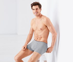 2 Pairs Of Boxer Briefs, Navy Blue/Grey