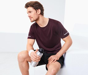 Men's Performance Top, Bordeaux mottled