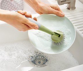 Adjustable Washing-Up Brush, Lime Green