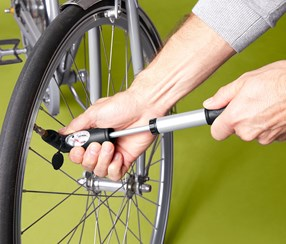 2-Way Mini Bicycle Pump, Black