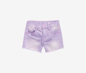 Celebrity Pink Girls Super Soft Denim Shorts, Violet Neon