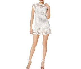 Mare Mare Women's Bea Eyelet Mini Dress, White