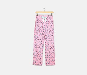 Girls Printed Pajama Pants, Glam Pink